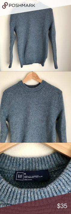 """GAP Lambswool Sweater in Blue Denim GAP men's wool blend sweater in color """"blue denim"""" GAP Sweaters Crewneck"""