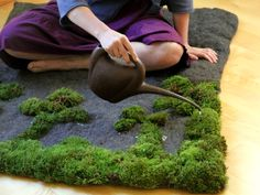 Moss Bath Mat : Moss Carpet Bathroom Design Maintanance