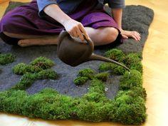 Moss Bath Mat : Moss Carpet Bathroom Design Maintanance