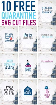 Free Quarantine SVGs - 10 Cut Files to Keep you Busy During Quarantine! Free Silhouette Files, Cricut Svg Files Free, Circuit Crafts, Silhouette Cameo Tutorials, Create Shirts, Free Planner, Silhouette America, Brother Scan And Cut, Crafty Projects