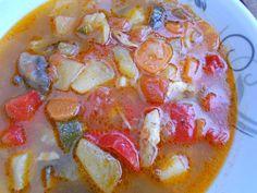 Zupa, jarzyny,cukinia,warzywa,ziemniaki,kurczak,papryka,pomidory,pieczarki,marchewka Ethnic Recipes, Food, Essen, Meals, Yemek, Eten