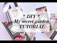 DIY TUTORIEL BOITE MY SECRET GARDEN - YouTube