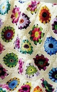 Plaid crochet motifs