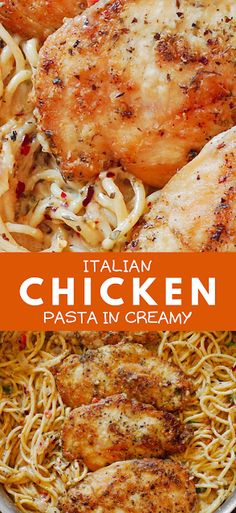 This pasta recipe will remind you of your favorite Italian dining experience! - The ingredients and how to make it please visit the website Easy Chicken Recipes, Pasta Recipes, Chicken Meals, Rice Recipes, Crockpot Recipes, Salad Recipes For Dinner, Dinner Salads, Italian Chicken Pasta, Parmesan Cheese Sauce