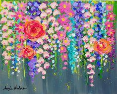 "174 Me gusta, 5 comentarios - Angela Anderson (@thankfulart) en Instagram: ""Cotton Swab Acrylic Painting Tutorial by Angela Anderson on YouTube #angelafineart #art"""