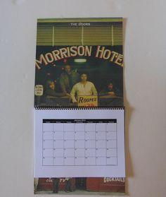 THE DOORS Wall Calendar 2014  Record Album by RecordsAndStuff, $10.00