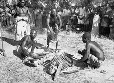 Luba people. Luba Orchestra. The Luba people occupied the region that extends from South East of Luluabourg (now Kananga) to the Saukuru river at Tshibata village, Bakwanga territory, kabinda district, Kasai province. The two xylophones madimba matshetshe and madimba, accompanied by a ditumba drum 9goblet shaped). madimba plural of didimba meaning key , Madimba makata , C. Lamote , International Library of African Music , Democratic Republic of Congo , ILM00407_18 , Performance , Black and…