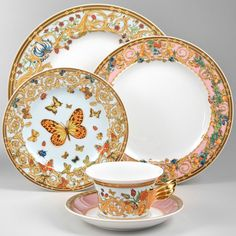 Versace Butterfly Garden Dinnerware PRETTY <3
