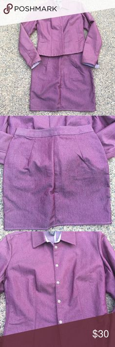 Banana Republic Suit Very cute and elegant light purple suit. In excellent condition. Great for formal and informal occasions. 56% cotton and 42% polyester. Banana Republic Other