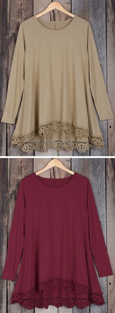 You can explore any and all cities you may travel to in this classy little top! The crochet is a fabulous detail and we can't imagine a top looking better with jeans!