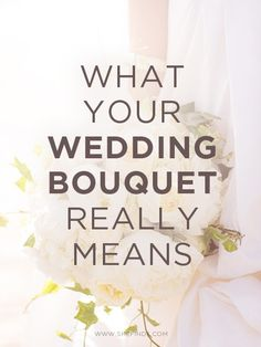 What do your wedding flowers mean?