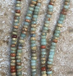 """Rondelle Beads - Smooth Flat Rondelle Blue Opal Beads - FULL 16"""" strand of 2x4mm natural gemstone beads (about 170 beads) - G961"""