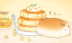 Cute Food Drawings, Cute Kawaii Drawings, Cute Animal Drawings, Arte Do Kawaii, Kawaii Art, Cute Food Art, Cute Art, Kawaii Chibi, Cute Chibi