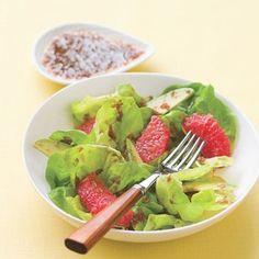 Mare grapefruit and avocado salad with ginger cassis dressing v