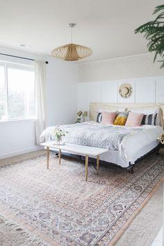 Blush bedroom details