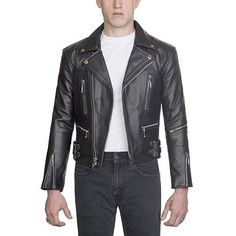 The Defector Leather Jacket in BLACK (Nickle Hardware) by Straight To Hell