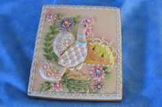 It's a beautiful Day   Cookie Connection Gingerbread decorated cookie moon bird flowers piping