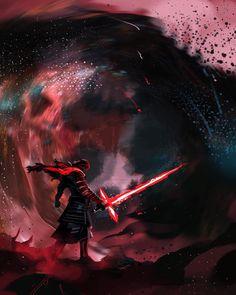 Kylo Ren | Star Wars: The Last Jedi | #starwars #starwarsart #starwarsfanart #kyloren #bensolo #jedi #sith #snoke #reylo #rey