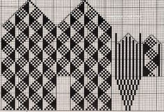 Knitting Charts, Knitting Patterns Free, Hand Knitting, Knitted Mittens Pattern, Knit Mittens, Intarsia Patterns, Weaving Patterns, Crochet Chart, Knit Or Crochet