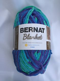 Ocean Shades 10776 Bernat Blanket Yarn ~ 10.5 oz Skein ~ Baby Blanket Yarn…