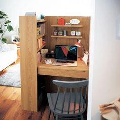 Tiny House Furniture, Home Decor Furniture, Home Furnishings, Computer Desks For Home, Home Desk, Home Office Setup, Home Office Design, Dream Home Design, House Design