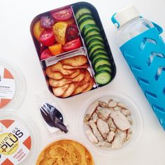 healthy lunch on the go in a @lunchbots trio