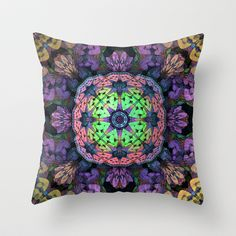 Mandala Throw Pillow by Lyle Hatch - $20.00