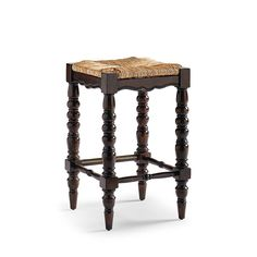 With roots in early American design, the Clarmount Backless Bar and Counter Stools stand on tall and stately legs of solid hardwood. The mitered woven seat adds rustic charm. Mitered woven seat Expertly built of solid hardwood Traditional American decor