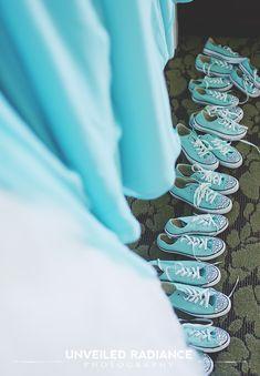 Blue converses bridesmaid gifts
