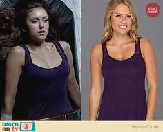 The Vampire Diaries Fashion: Lucky Brand Angeli Tank worn by Nina Dobrev