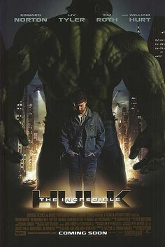The Incredible Hulk original movie poster (2008) transformation poster available for sale!