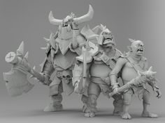ArtStation - Orc minions from Orcs Must Die Unchained, Won Choi (wonanimal)