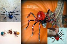 Worth Reading - DIY Beaded Spider Tutorials for the Halloween