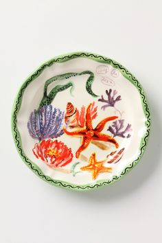 Ocean Glimpse Plate //Anthropologie.com ~i love sea themed rooms!