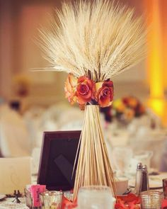 Rural wedding table decorations