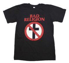 Bad Religion Distressed Crossbuster T Shirt Retro Punk Rock Concert Cotton Tee | eBay