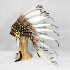great plains indian chief feather headdress by the gorgeous company | notonthehighstreet.com