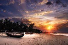 Beach, Sunset, Tropical, Vacation
