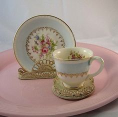 Vintage Homer Laughlin Georgian Demi Cup and Saucer 1950