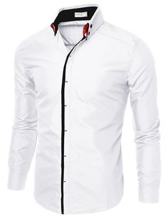 $10.00 Mens Slim Fit Shirts With Double Collar (CMTSTL087)