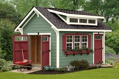 Elite Craftsman The Elite Craftmanship is a range of luxurious storage sheds from Ulrich Barn Builders. Our products are the best in the industry and have advanced features. Get in touch with our advisors at Backyard Storage Sheds, Garden Storage Shed, Backyard Sheds, Garden Sheds, Portable Storage Sheds, Outdoor Sheds, Craftsman Sheds, Craftsman Style, Prefab Sheds