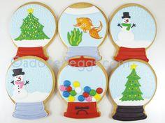 Snow globe cookies #countrywoman #merrychristmas -------->…