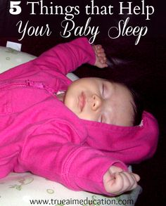 If you're pregnant or have a newborn, here are 5 things that will help your baby sleep!  Must have registry items!