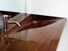 Wooden sink. Nice but is it practical?