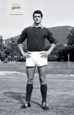 Italian football trainer slash player Fabio Capello wearing his Goliaths way back in the days! #goliath #sportswear #history