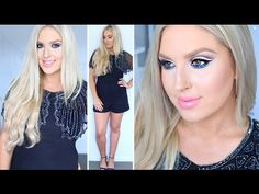 New Years Eve Makeup & Outfit! ♡ Dramatic Cut Crease & GIVEAWAY - YouTube
