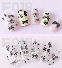 F018B Black Bow Tie Lace Nail Art Stickers Water Transfer... https://www.amazon.com/dp/B06XX66TS5/ref=cm_sw_r_pi_dp_x_M9w3ybGW8ADJ8