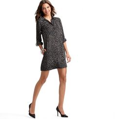 """This Cheetah Print Shirt Dress is perfect for work and play in the """"Urban Jungle."""""""