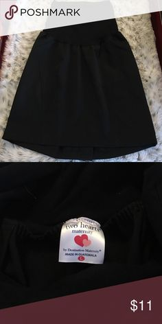 Black Maternity Skirt Black Two Hearts Maternity Skirt.  Perfect for work.  Worn only once. two hearts maternity Skirts A-Line or Full