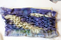 pleated and dyed fabric sample